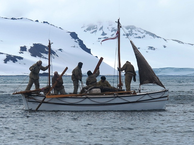 A crew of five British and Australian adventurers joined expedition leader Tim Jarvis, and on February 11, 2013 became the first to authentically re-enact Sir Ernest Shackleton's perilous voyage from Elephant Island to South Georgia and the dangerous crossing of its mountainous interior.