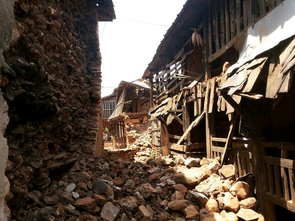 Homes lost forever in Kalleri after the earthquakes.