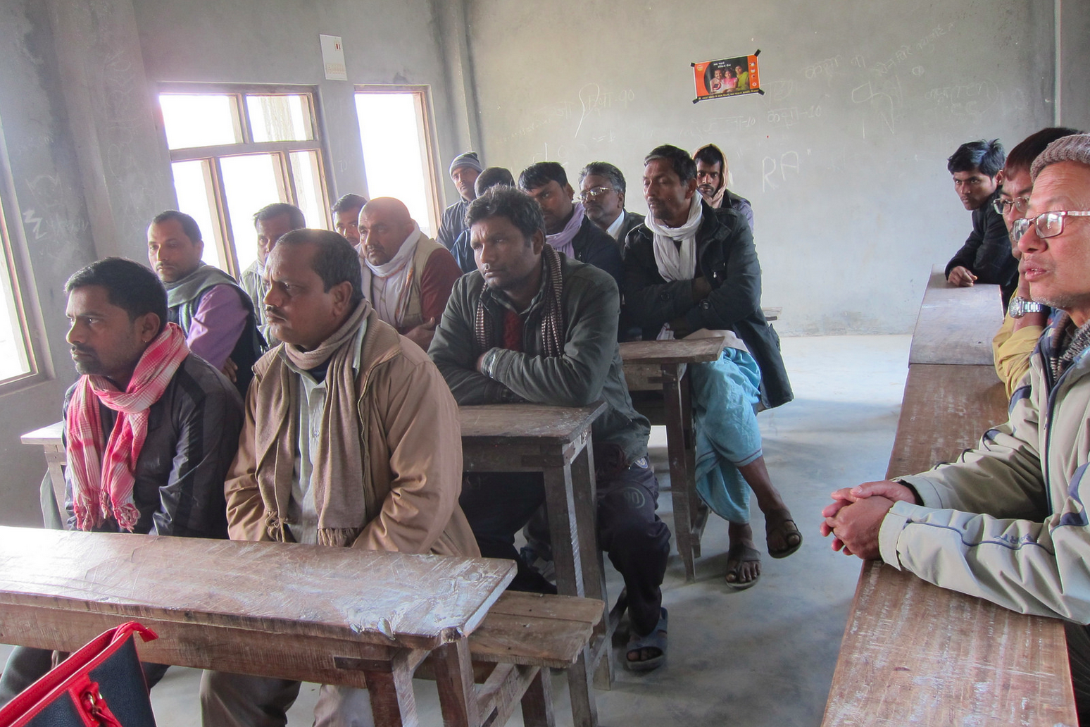 Many programs in the Nepal rural community highlight the lack of women's empowerment and opportunity - this session hosted by Empower Generation staff was only attended by male members of the community.